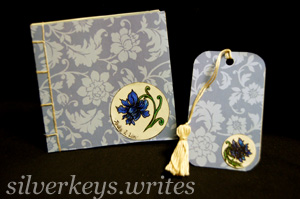 Blue Flower Notebook Set 1