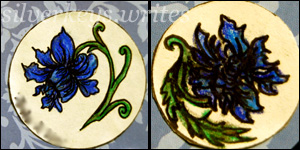 Blue Flower Notebook Set 2