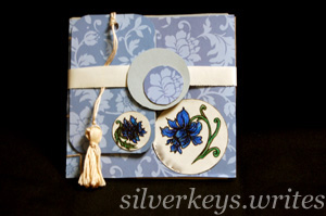 Blue Flower Notebook Set 4