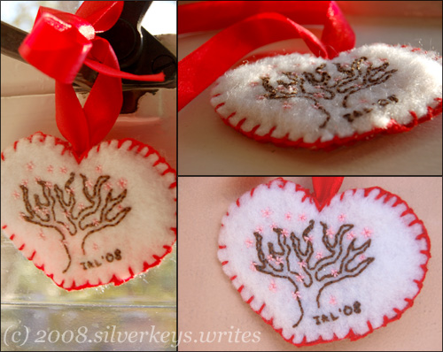 Completed Heart Ornament